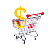 Buy Dollar currency. Financial concepts: buy (exchange) Dollar currency, Consumer price index (CPI), consumption tax, interest rate, inflation stock photo