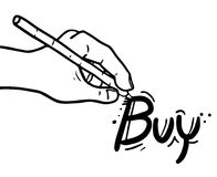Buy draw message Stock Photography