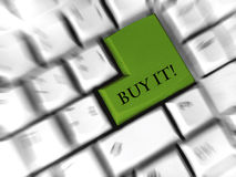 Buy it - enter sign. Replaced enter sign at keyboard Stock Photos