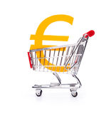 Buy Euro currency. Financial concepts: buy (exchange) Euro currency, Consumer price index (CPI), consumption tax, interest rate, inflation Royalty Free Stock Photography