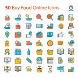 Buy Food Online Icon in vector format. Buy Food online and shopping in full colour. Perfect for use in a wide range of new media templates: Web Marketing Agency royalty free illustration