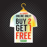 Buy 2 Get 1 Free Apparel Promotion. Stock Photos