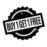 Buy 1 Get 1 Free rubber stamp. Grunge design with dust scratches. Effects can be easily removed for a clean, crisp look. Color is easily changed Stock Photos