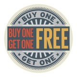 Buy 1 Get 1 Free stamp. Abstract stamp with the text Buy 1 Get 1 Free written inside the stamp, vector illustration Stock Photo