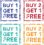 Buy 1 Get 1 Free Stamp Buy 2 Get 1 Free Vector Royalty Free Stock Images