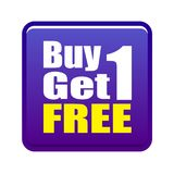 Buy 1 get 1 free Stock Photos