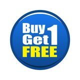 Buy 1 get 1 free Royalty Free Stock Photo