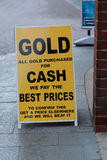 We buy gold sign Stock Images