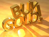Buy gold text Royalty Free Stock Images