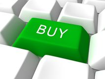 Buy green keyboard button Stock Image