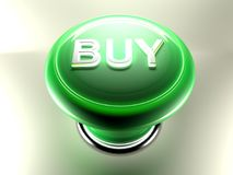 BUY green pushbutton Royalty Free Stock Image