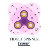 Buy Hand spinner toy in flat and cartoon style. White and abstract background.   Stock Images