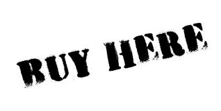 Buy Here rubber stamp Stock Image