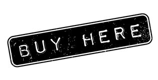 Buy Here rubber stamp Royalty Free Stock Images
