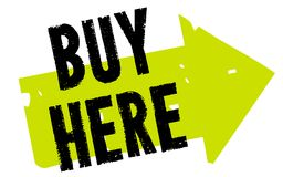 Buy here sticker Stock Image