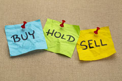 Buy, hold, sell iconcept Stock Image