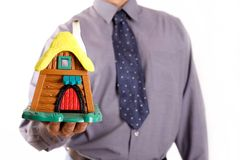 Buy a holiday house stock image