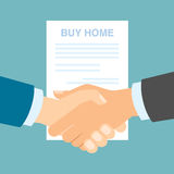 Buy home handshake. Stock Photography