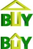 Buy house logo. On a white background Royalty Free Stock Photo