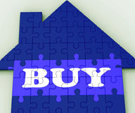 Buy House Shows Investment In Residential Home. Buy House Showing Investment In Residential Home Stock Photos