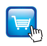 Buy icon. Over white  background vector illustration Stock Photography