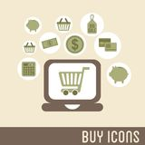 Buy icons Stock Photography