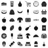 Buy icons set, simple style. Buy icons set. Simple style of 36 buy vector icons for web isolated on white background Royalty Free Stock Images
