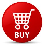 Buy red round button. Buy isolated on red round button abstract illustration Stock Photo