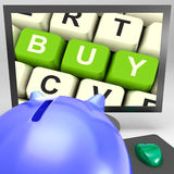 Buy Key On Monitor Showing Online Commerce Stock Image