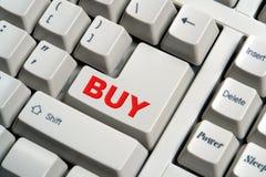 Buy Key on Special Computer Keyboard. Custom computer keyboard with special buy key for the power buyer Stock Photo
