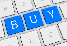 Buy keyboard 3d illustration. On white background Royalty Free Stock Photo