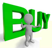 Buy Letters As Sign for Commerce And Purchasing Royalty Free Stock Photo