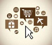 Buy on line Stock Photography