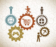 Buy on line Royalty Free Stock Image