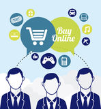 Buy on line Royalty Free Stock Images