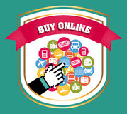 Buy on line Stock Images