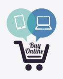 Buy on line Royalty Free Stock Photo