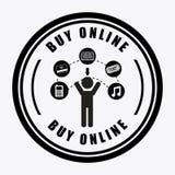 Buy on line Stock Image