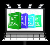 Buy Local Shopping Sign Shows Buying Nearby Trade Royalty Free Stock Photos