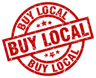 Buy local stamp Royalty Free Stock Images