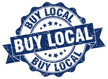 Buy local stamp Royalty Free Stock Photo