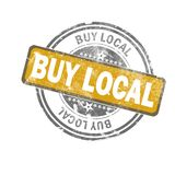 Buy local yellow vintage stamp stock illustration