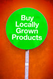 Buy Locally Grown Products Royalty Free Stock Photos
