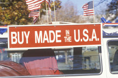 Buy made in the U.S.A. sign Stock Photography