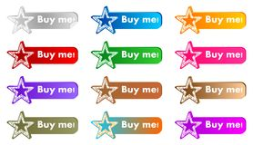 Buy me buttons Royalty Free Stock Photography