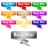 Buy me buttons Stock Image