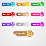 Buy me buttons 3 Stock Photo