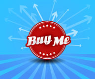 Buy me label with arrows Royalty Free Stock Image