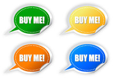 Buy me sticker Royalty Free Stock Image