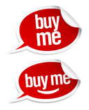Buy me stickers set. Stock Photo